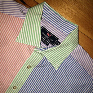 Vineyard Vines Long Sleeve Colorful Shirt Size L